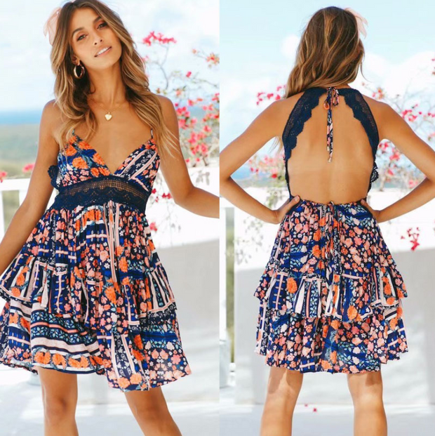 Fashion Backless Sexy Dress