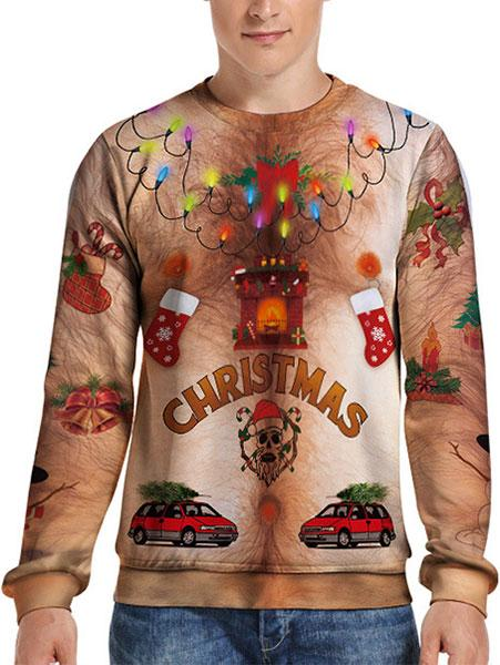 Digital Christmas 3D Simulation Men's Shirt