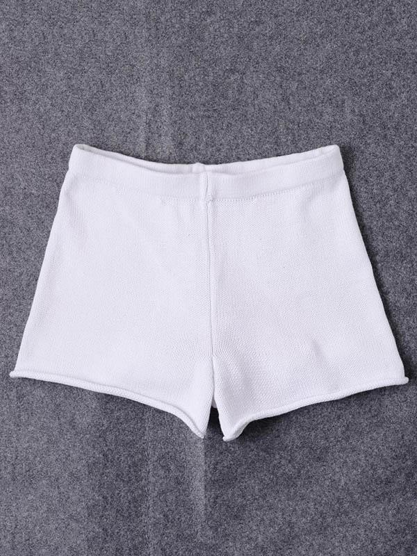 High Waist Knitted Hot Shorts