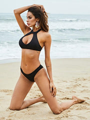 Black Hollow Bikini Set