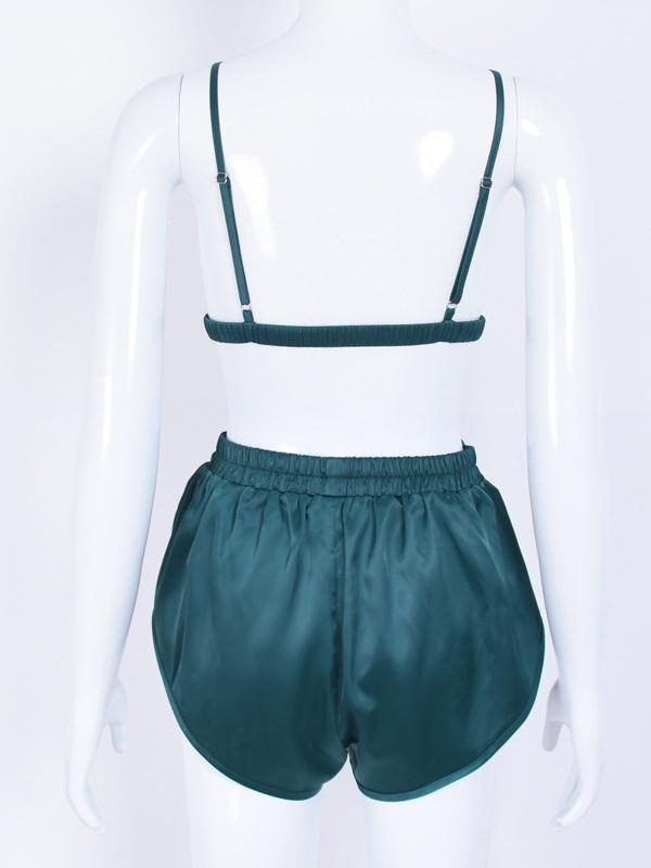 Backless Bra And Elastic Shorts Suits
