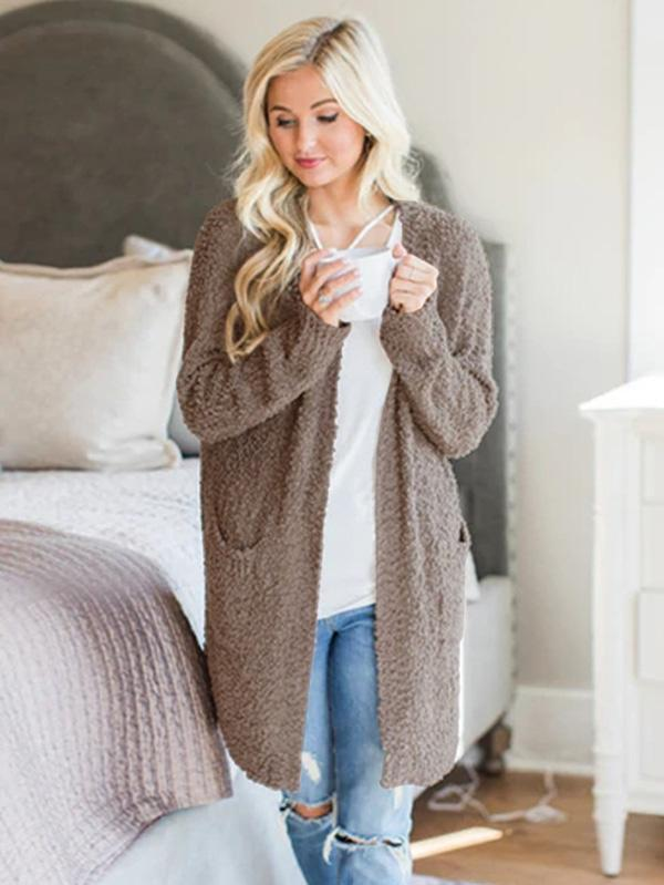 4 Colors Knitting Cardigan Tops