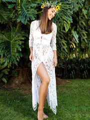 Bikinis Hollow Lace Cover-Ups Swimwear