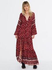 Bohemia Split-side Printed Maxi Dresses