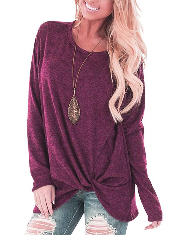 Solid Colors Blous&shirts Tops