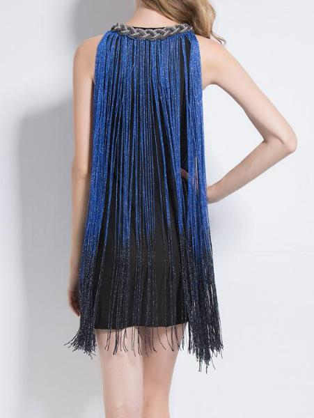 Multicolor Fringe Dress