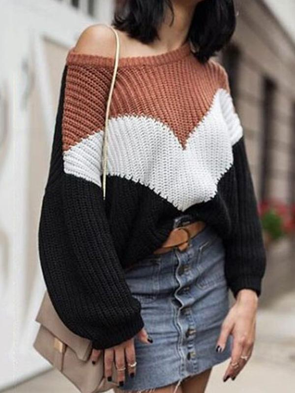 Fashion 3 Colors Sweater Tops
