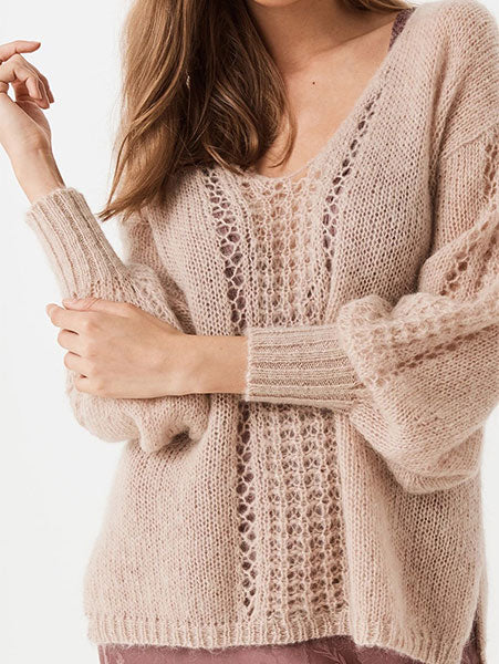 Loose Lantern-Sleeve Sweater
