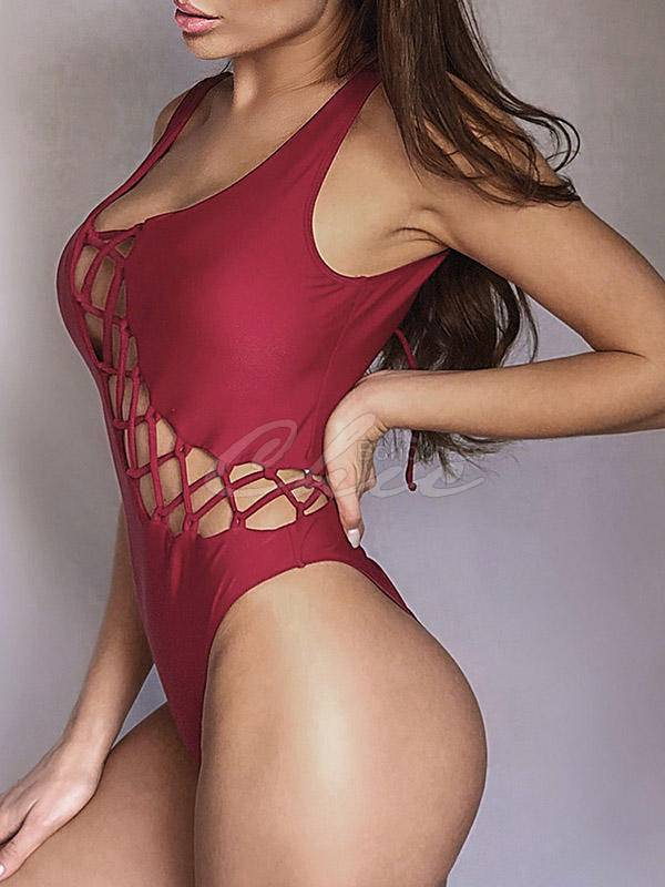 Asymmetric Bandage One-Piece Swimwear