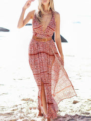 Bohemia Deep V-neck Maxi Dress