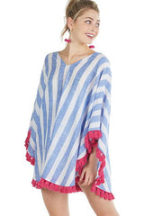 Fashion Multicolor Stripes Blouses&shirts Tops