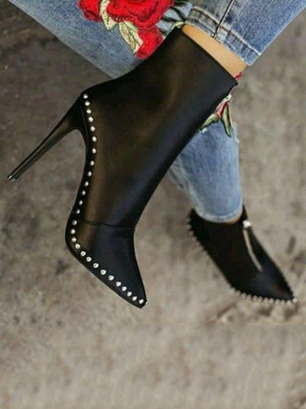 Fashion 2 Colors High Heel Boots