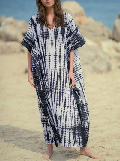 Bohemia Striped Printed Bikini Cover-Up