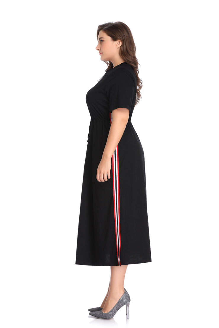 Black Plus Size Loose Dress
