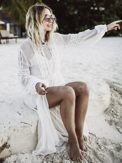 Chiffon Lacy Cover-Ups Swimwear