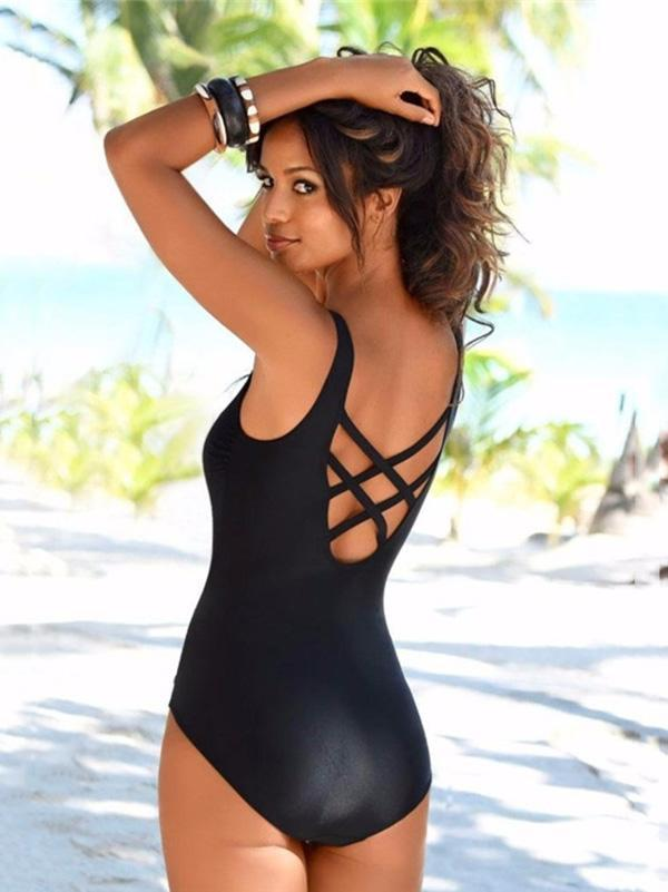 Gradient Backless One-piece Swimwear