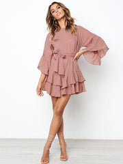 Bohemia 4 Colors Long Sleeves Mini Dresses