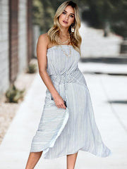 Bohemia Off-the-shoulder Waisted Maxi Dress
