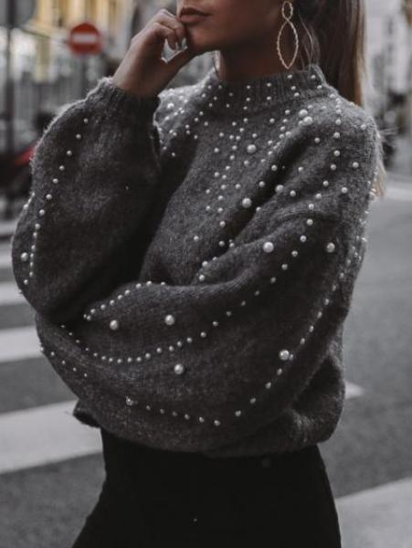 Pearl Decorative Sweater