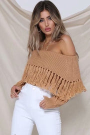 Sexy Tassel Lapel Sweater