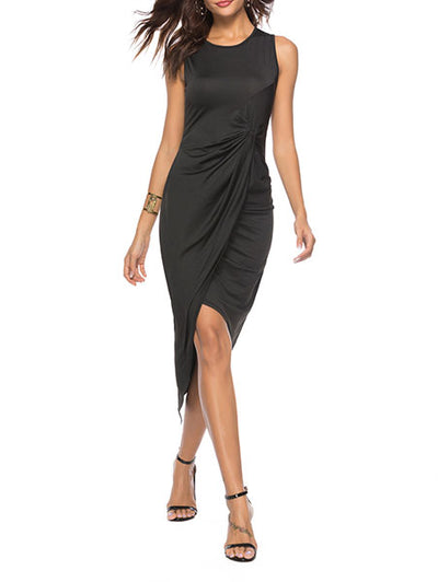 Round Neck Irregular Dress