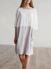 Casual Loose Round Neck Dress