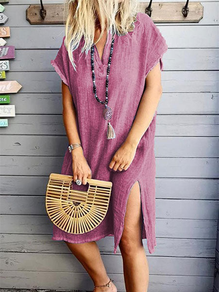 Casual Loose Side-Slit Dress