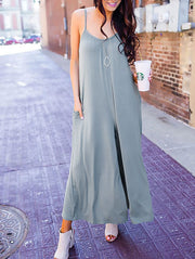 Casual Loose Wide-Leg Cami Jumpsuit