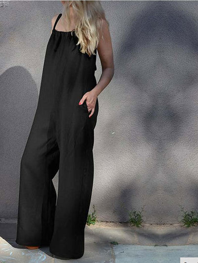 Casual Wide-Leg Jumpsuit