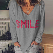Casual Ladies Long Sleeve T-shirt
