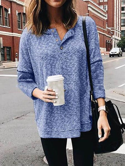Casual Crew Neck Long Sleeve T-Shirt