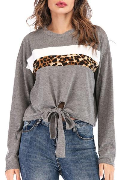 Casual Long Round Neck T-Shirt