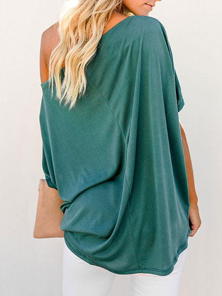 Casual Loose One-Shoulder Top