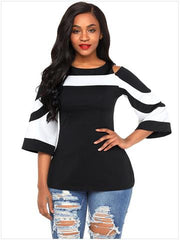 Casual Round Neck Large Size T-Shirt