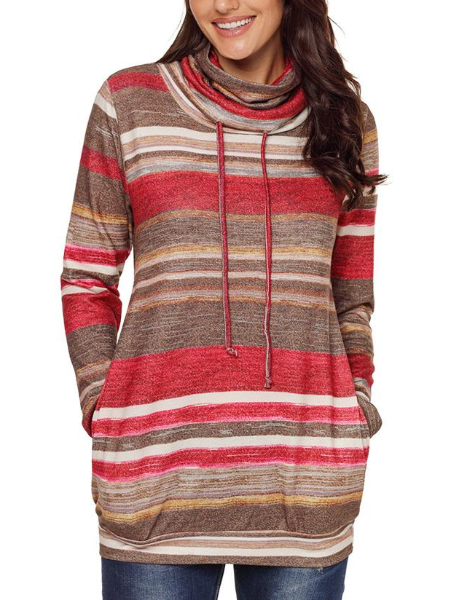 Casual Striped Long Sleeve Sweater
