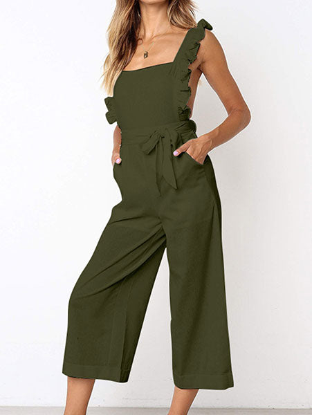 Chic Ruffle Cami Jumpsuit