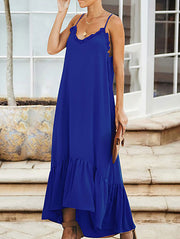 Chic Sweet Ruffle Maxi Dress