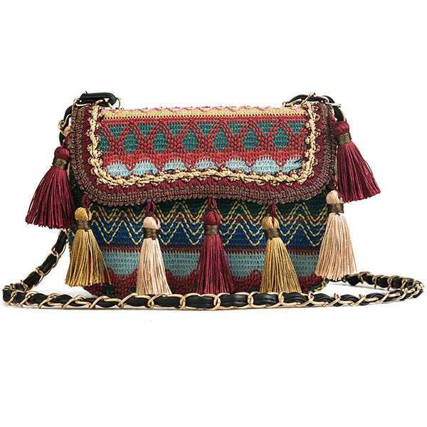 Fashion Chic Tassel Embroidered  Bag