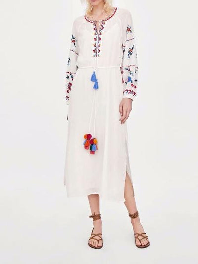 Premium Chic Floral Embroidered Dress