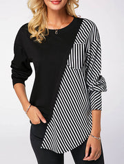 Chic Striped Long Sleeve Shirt