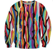 Color Grid 3D Digital Print Sweatshirt