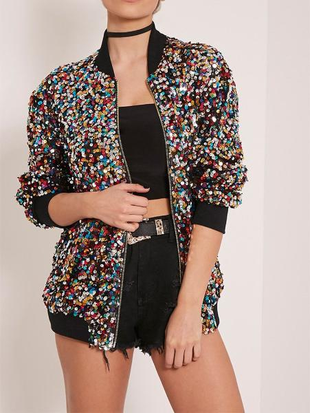 Colored Sequin Jacket