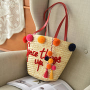 Colorful Balls Woven Bag