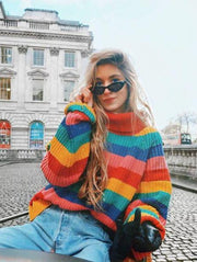 Colorful Striped Pullover