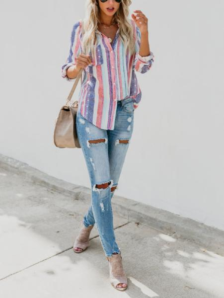 Colorful Striped Shirt