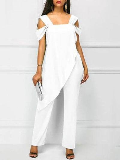 Elegant Irregular Off-the-Shoulder Jumpsuit