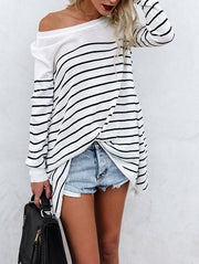 Fashion Casual Striped  Sweater