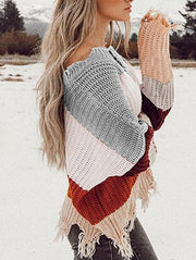 Fashion Multicolor Striped Sweater