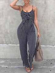Fashion Striped Cami Jumpsuit