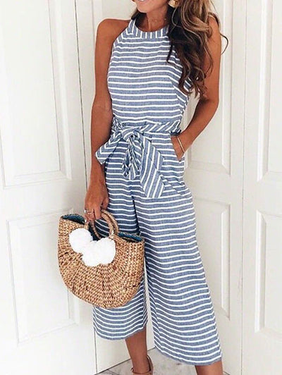 Fashion Striped Jumpsuit